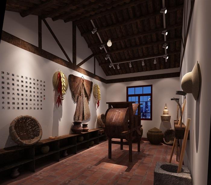 200平米农具博物馆展厅设计(1)