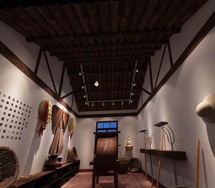200平米农具博物馆展厅设计(2)