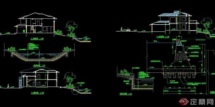 详细的多层别墅设计cad方案