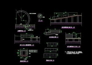 园林景观节点小品设计cad施工图