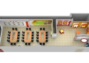 社区议事会议展厅党建设计方案3D模型