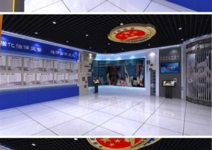廉政警示教育基地展厅设计方案3D模型