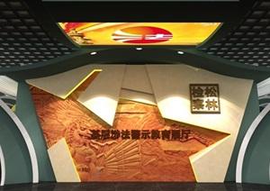 法院反腐主体展厅设计方案3D模型