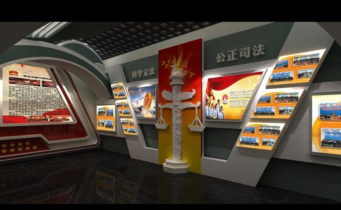 法院反腐主体展厅设计方案3D模型(4)