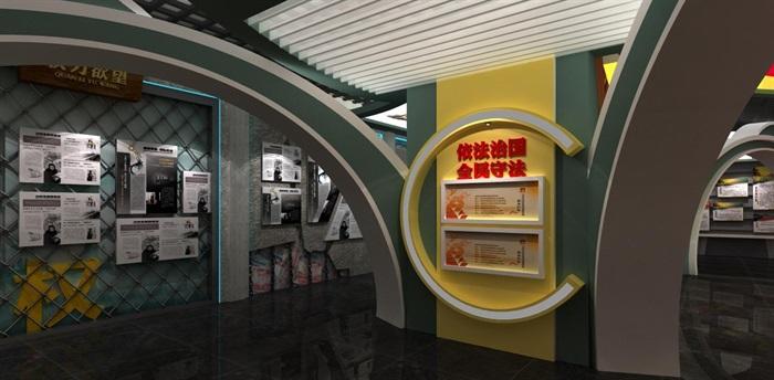 法院反腐主体展厅设计方案3D模型(5)