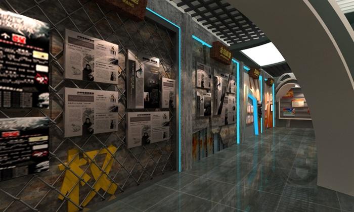 法院反腐主体展厅设计方案3D模型(6)