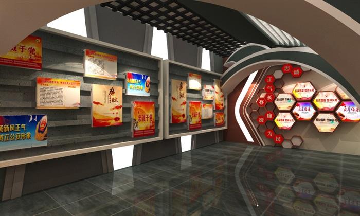 法院反腐主体展厅设计方案3D模型(9)