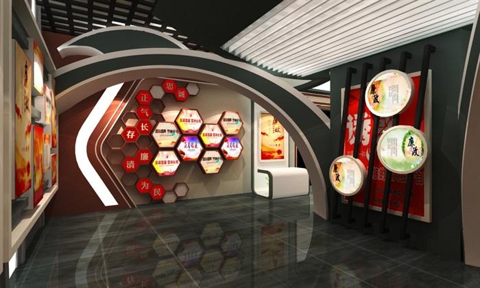 法院反腐主体展厅设计方案3D模型(10)