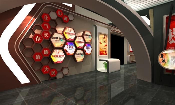 法院反腐主体展厅设计方案3D模型(11)