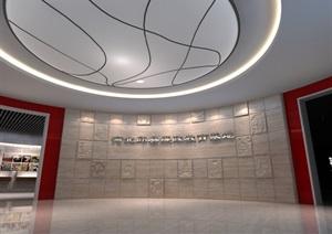 廉政教育中心展厅设计方案3D模型