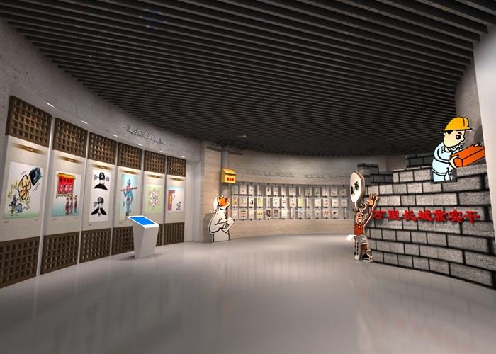 廉政教育中心展厅设计方案3D模型(4)