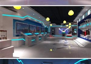 廉政教育基地展览馆展厅设计方案3D模型