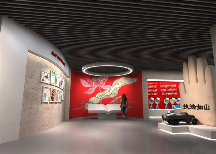 廉政教育中心展厅设计方案3D模型(5)