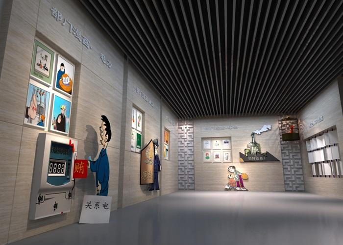 廉政教育中心展厅设计方案3D模型(8)