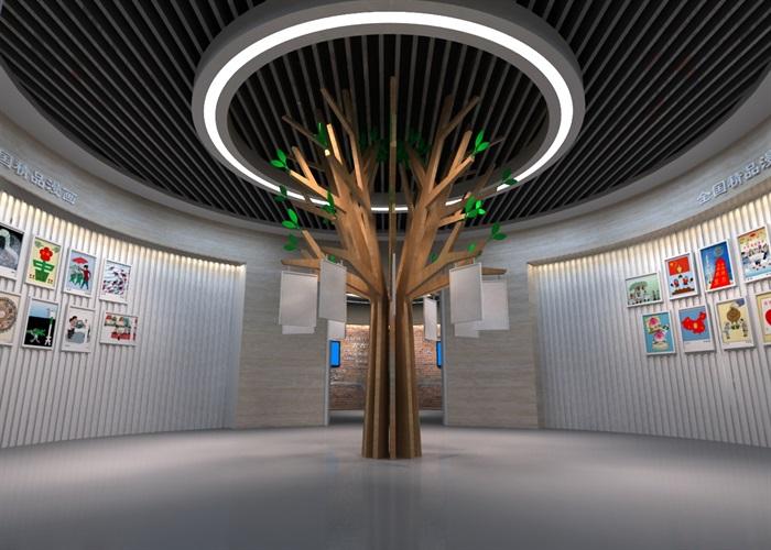 廉政教育中心展厅设计方案3D模型(10)
