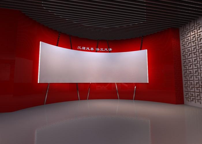 廉政教育中心展厅设计方案3D模型(13)