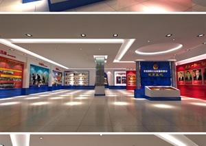 反腐廉政教育基地主题展馆展厅设计方案3D模型