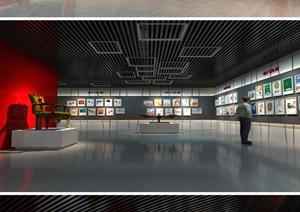 党建廉政教育展厅设计方案3D模型