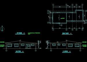 单层详细的厕所设计cad施工图