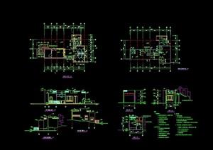 詳細的公廁詳細設計cad施工圖