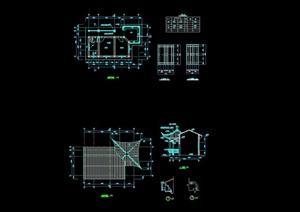 中式详细的完整管理用房cad施工图