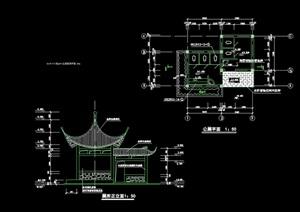 古典中式风格详细的厕所cad施工图