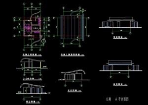 独特详细的公厕建筑设计cad施工图