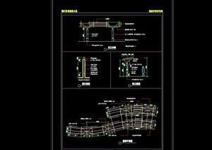 园林景观廊架节点素材cad施工图