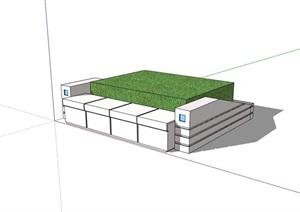 园林景观现代树池设计SU(草图大师)模型