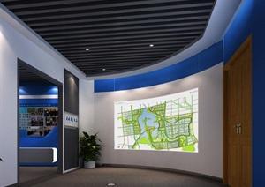 公安派出所廉政教育展厅设计方案3D模型