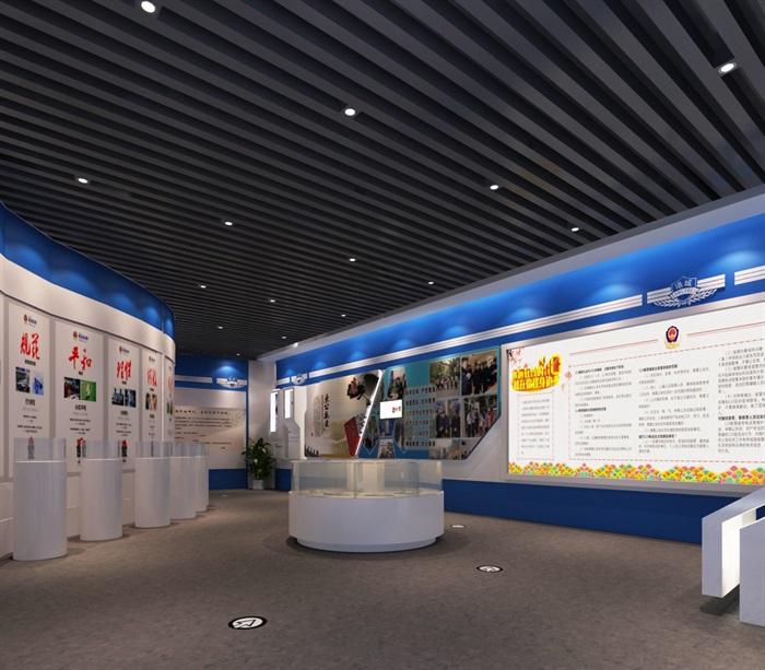 公安派出所廉政教育展厅设计方案3D模型(2)