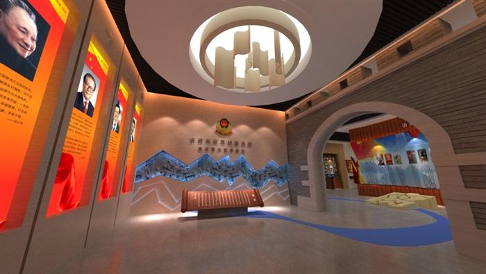 廉政警示教育基地展厅设计方案3D模型(2)