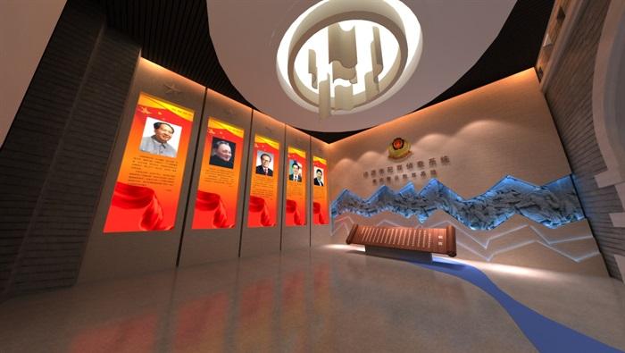 廉政警示教育基地展厅设计方案3D模型(3)