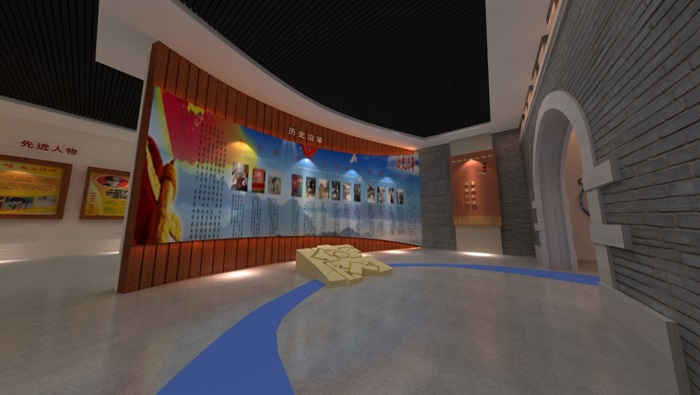 廉政警示教育基地展厅设计方案3D模型(4)