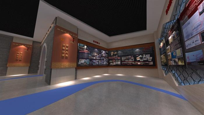 廉政警示教育基地展厅设计方案3D模型(5)