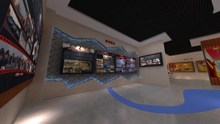 廉政警示教育基地展厅设计方案3D模型(6)
