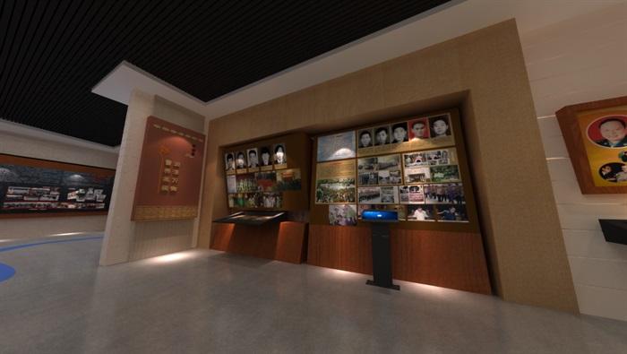 廉政警示教育基地展厅设计方案3D模型(7)