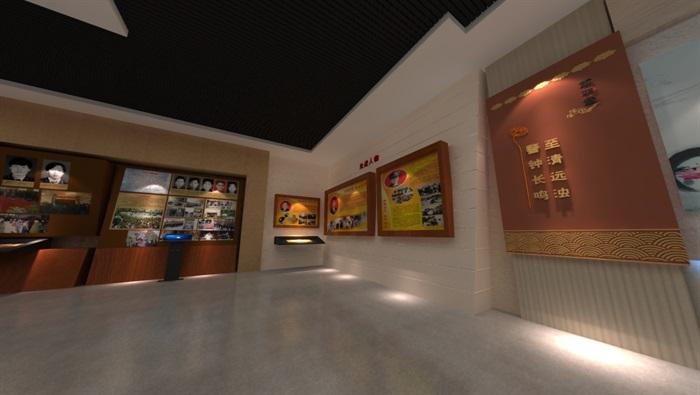 廉政警示教育基地展厅设计方案3D模型(8)