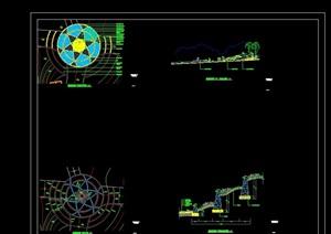 某详细的完整广场节点设计cad施工图