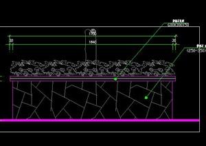 树池花池花坛冰裂纹碎拼做法施工图详图
