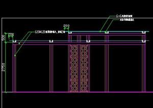 新中式现代中式简约木景亭玻璃顶棚景观亭子廊架花架施工图详图