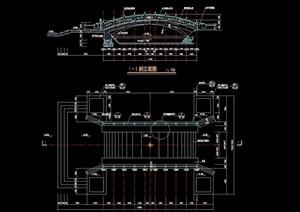 景观桥、设备房设计cad施工图