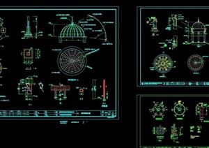 详细的欧式风格圆亭设计cad施工图