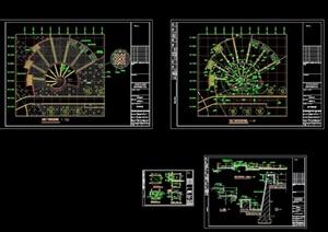 叠水广场详细设计cad施工图