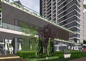 某上海公寓精细SU(草图大师)精细模型典范