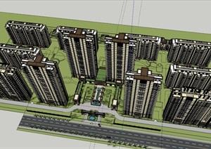 某新古典风格高端住宅精细SU(草图大师)模型