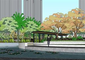 三盛居住小區中庭景觀模型