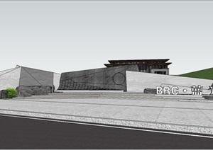 某新中式景观展示区SU(草图大师)模型