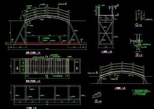 园林景观节点拱桥园桥设计cad施工图