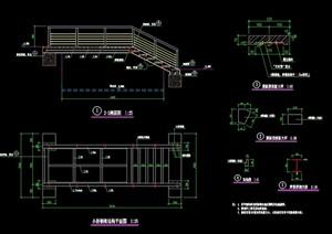 园林景观节点钢架园桥设计cad施工图